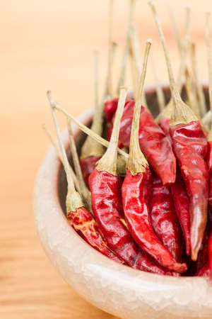 Red pepper in bowl Stock Photo