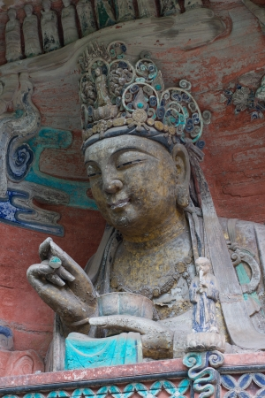 liu: DAZU TOWN CHONGQING CHINA - NOVEMBER 23,2012   Ancient Buddhist Hillside Rock Carvings, Ten Austerities of Liu Benzun - November 23,2012 at Baodingshan temple in Dazu town, Chongqing, China
