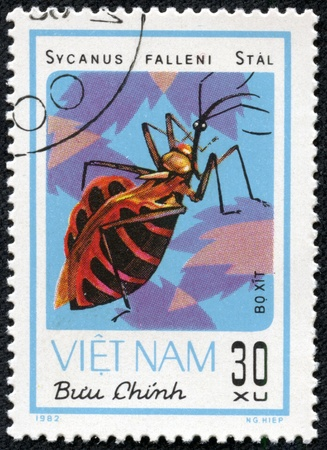 VIETNAM - CIRCA 1982  A stamp printed in VIETNAM shows sycanus falleni stal, circa 1982 Stock Photo - 17202348