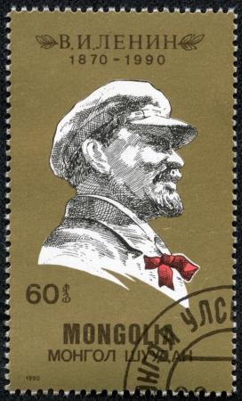 MONGOLIA - CIRCA 1990  stamp printed by Mongolia, shows Vladimir Ilyich Lenin, circa 1990 Stock Photo - 17297948