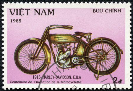 VIET NAM - CIRCA 1985  stamp printed by Viet Nam, shows Harley Davidson, circa 1985
