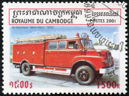 CAMBODIA - CIRCA 2001  stamp printed by Cambodia, shows retro car, circa 2001