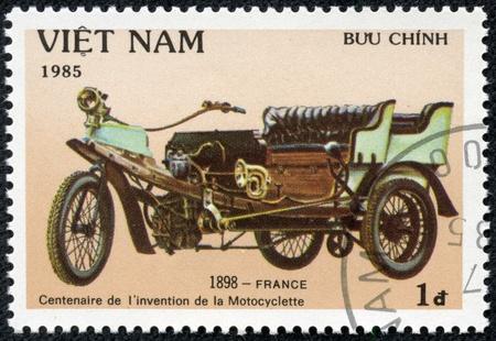 VIET NAM - CIRCA 1985  stamp printed by Viet Nam, shows motorcycle, circa 1985