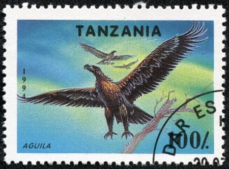 TANZANIA - CIRCA 1994  A stamp printed in Tanzania shows eagle, circa 1994 Stock Photo - 17455562