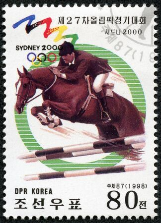 KOREA - CIRCA 1998  A stamps printed in Korea shows Equestrian Sport,Sydney 2000, circa 1998