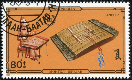 MONGOLIA - CIRCA 1986  A stamp printed by Mongolia, shows janchir, circa 1986 Stock Photo - 17561357