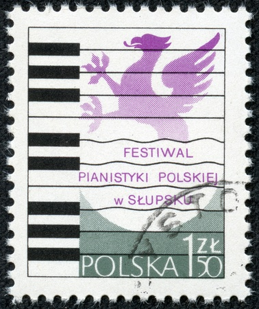 postmail: POLAND - CIRCA 1975  A stamp printed by POLAND, Polish Piano Festival in Slupsk, circa 1975