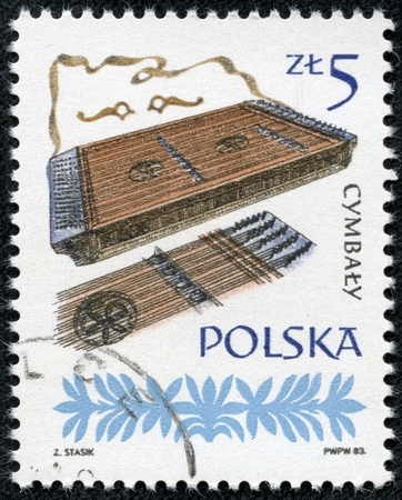 POLAND - CIRCA 1983  A stamp printed in Poland shows dulcimers, circa 1983 photo