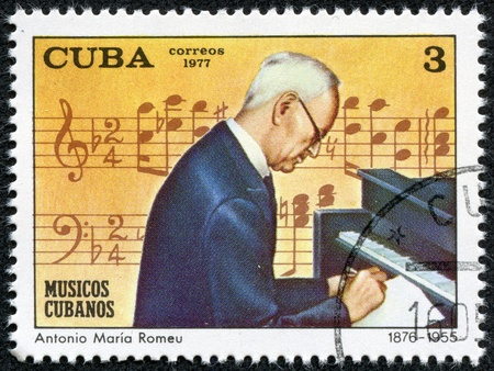 CUBA - CIRCA 1977  A stamp printed in the CUBA, shows Antonio Maeia Romeu 1876-1955, circa 1977
