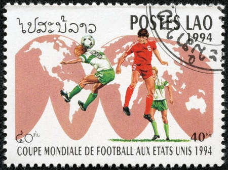 LAOS - CIRCA 1994  stamp printed by Laos, shows football, circa 1994  Stock Photo - 17614954