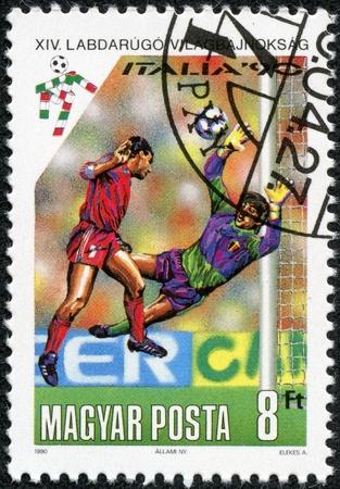 HUNGARY - CIRCA 1990  stamp printed by Hungary, shows football, circa 1990 Stock Photo - 17554713