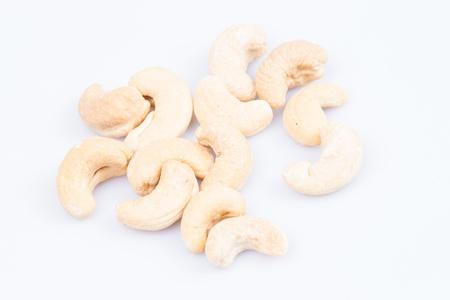 cashew nuts on white background Stock Photo - 18642427