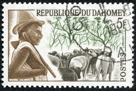 DAHOMEY - CIRCA 1968  A stamp printed in Dahomey  now called the Republic of Benin  shows, circa 1968 Stock Photo - 18535452