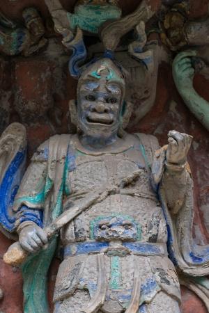 DAZU TOWN CHONGQING CHINA - NOV 23  Ancient Buddhist Hillside Rock Carvings, Ten Austerities of Liu Benzun - November 23,2012 at Baodingshan temple in Dazu town, Chongqing, China Stock Photo - 18614334