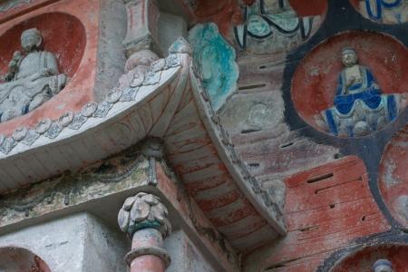 DAZU TOWN CHONGQING CHINA - NOV 23  Ancient Buddhist Hillside Rock Carvings, Ten Austerities of Liu Benzun - November 23,2012 at Baodingshan temple in Dazu town, Chongqing, China Stock Photo - 18614342