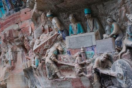 DAZU TOWN CHONGQING CHINA - NOV 23  Ancient Buddhist Hillside Rock Carvings, Ten Austerities of Liu Benzun - November 23,2012 at Baodingshan temple in Dazu town, Chongqing, China Stock Photo - 18621954
