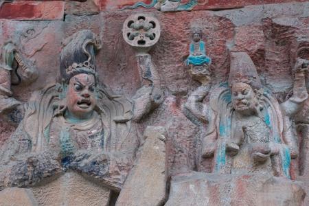 DAZU TOWN CHONGQING CHINA - NOV 23  Ancient Buddhist Hillside Rock Carvings, Ten Austerities of Liu Benzun - November 23,2012 at Baodingshan temple in Dazu town, Chongqing, China Stock Photo - 18621955