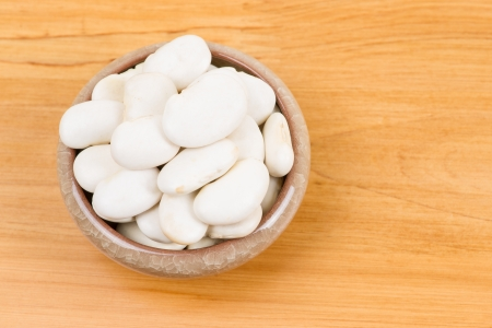 large lima beans in bowl photo