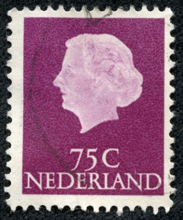 regnant: NETHERLANDS - CIRCA 1953  A stamp printed in Netherlands, shows portrait of Queen Juliana - Queen regnant of Kingdom of Netherlands  1948-1980 , without inscription, series  Queen Juliana , circa 1953