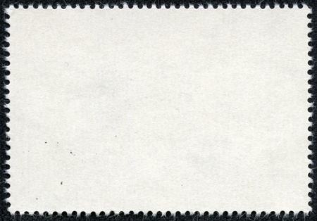 post stamps reverse side isolated on black photo