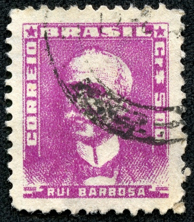 BRAZIL - CIRCA 1954  A stamp printed in Brazil, shows portrait of Ruy Barbosa, with the same inscription, from the series  Portraits quo t;, circa 1954