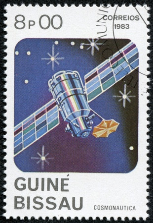GUINEA-BISSAU - CIRCA 1983  A stamp printed in Guinea-Bissau shows Space Communication, circa 1983