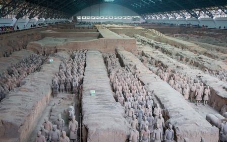 Qin dynasty Terracotta Army, Xi an, China Editorial