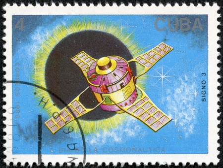 marte: CUBA CIRCA 1988  stamp printed by CUBA, shows Cosmonautics Day, CIRCA 1988 Editorial