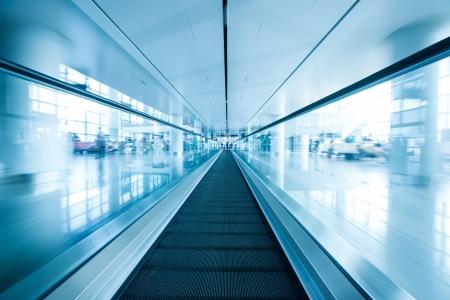 escalator, interior of airport
