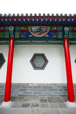 Chinese historic building detail,Huaqing Hot Spring,Xi  an,Shaanxi province Stock Photo - 22441948
