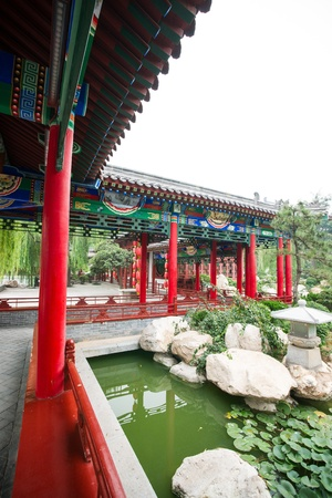 Chinese historic building detail,Huaqing Hot Spring,Xi  an,Shaanxi province photo