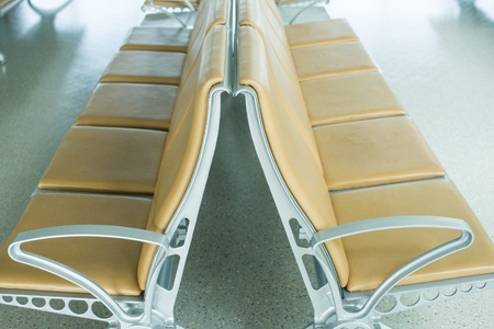 Empty Chair in airport Stock Photo