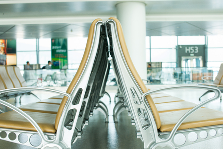 Empty Chair in airport 新聞圖片