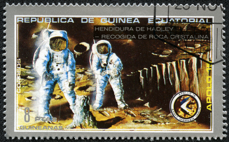 EQUATORIAL GUINEA - CIRCA 1980  stamp printed by Equatorial Guinea, shows astronaut, circa 1980