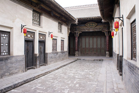chinese courtyard: Chinese ancient house building  Taken in yuncheng,Shanxi Province,china, there are a lot of Chinese ancient buildings that was Built in the Qing Dynasty