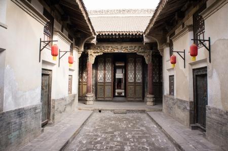 中国古代家の中国山西省運城で撮影を構築、清代に建てられた中国の古代建物の多く 写真素材 - 24518494