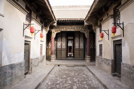 courtyard: Chinese ancient house building  Taken in yuncheng,Shanxi Province,china, there are a lot of Chinese ancient buildings that was Built in the Qing Dynasty