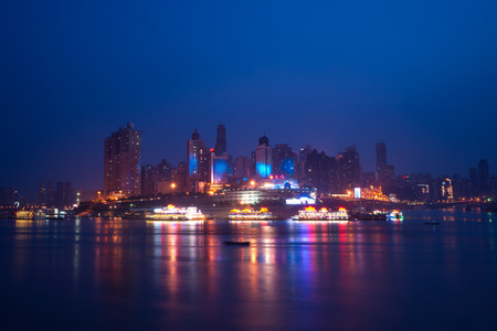 Night view of city,chongqing,china photo