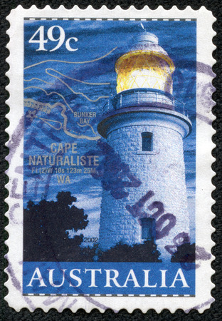 AUSTRALIA - CIRCA 2002  A stamp printed in Australia shows Fire tower on Cape Natureliste WA, circa 2002