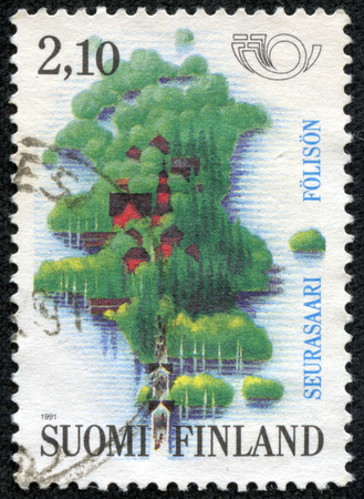 FINLAND - CIRCA 1991  a stamp printed in the Finland shows Seurasaari Island, Tourism, circa 1973