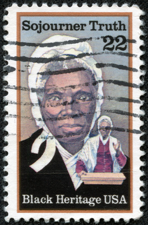 UNITED STATES OF AMERICA- CIRCA 1986  stamp printed in USA, shows Sojourner Truth, abolitionist, black heritage serie, circa 1986 Editorial