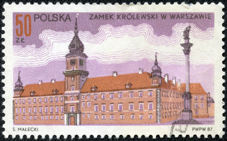 POLAND - CIRCA 1987  Stamp printed in Poland shows a large national building, circa 1987