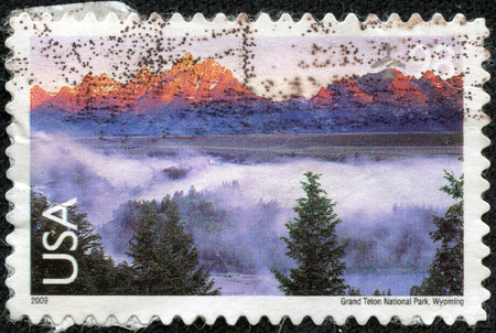 UNITED STATES OF AMERICA - CIRCA 2009  Stamp printed in the USA shows Grand Teton National Park, Wyoming, circa 2009