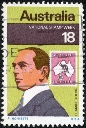 AUSTRALIA - CIRCA 1976: A stamp printed in Australia shows Blamire Young, circa 1976