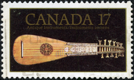 canada stamp: CANADA - CIRCA 1981: stamp printed by Canada, shows Mandora, 18th Century, circa 1981 Editorial