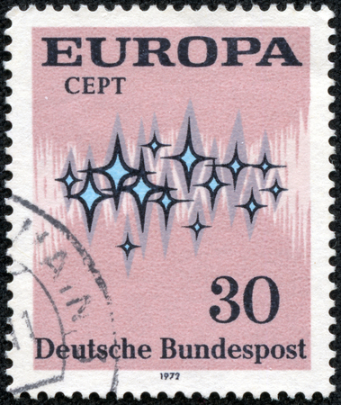 bundespost: FEDERAL REPUBLIC OF GERMANY - CIRCA 1972  A stamp printed in the Federal Republic of Germany shows Europa, circa 1972