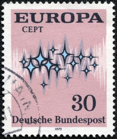 FEDERAL REPUBLIC OF GERMANY - CIRCA 1972  A stamp printed in the Federal Republic of Germany shows Europa, circa 1972