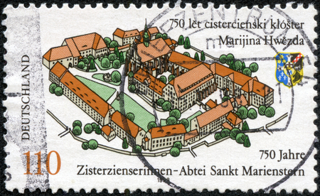 GERMANY - CIRCA 1998  stamp printed by Germany, shows Cistercian abbey of st  Marienstern, circa 1998