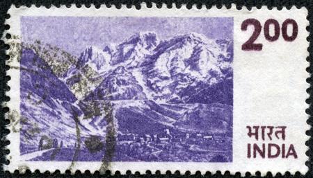 INDIA - CIRCA 1975  a stamp printed in India shows Himalayas, Mountain Range in Asia, circa 1975