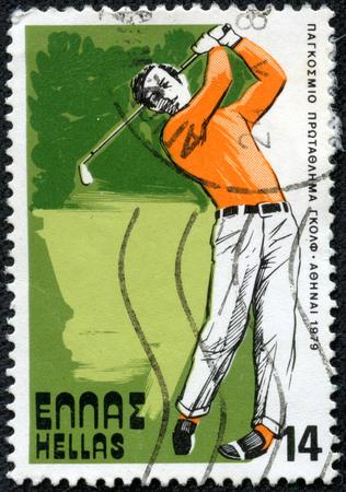 GREECE- CIRCA 1979  stamp printed by Greece, shows golf, circa 1979
